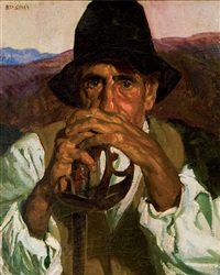 retrato de anciano by rigoberto soler [perez]